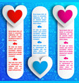 lovely romantic vertical banners vector image vector image