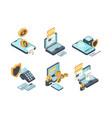 online payments digital banking computer online vector image vector image