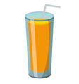 orange juice cartoon vector image vector image