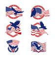 patriot american logo set vector image