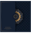 pattern with golden vintage ornament mandala vector image vector image