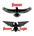 Power eagle icon or heraldic bird symbols set vector image vector image