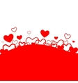 Romantic background with hearts vector image