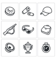 set clay shooting icons plate bullet vector image