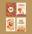 set of autumn templates design for card vector image vector image