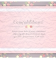 shabby chic provence style card vector image