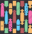 skateboard seamless pattern background vector image vector image