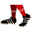 socks and soccer shoes vector image
