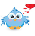 sparrow in love vector image vector image