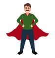 superdad cartoon character vector image vector image