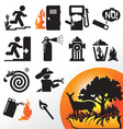 Symbol fire vector image