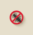 termite silhouette pest icon stop sign vector image