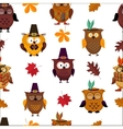 Thanksgiving day cute owl background