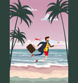 transition to vacation businessman in business vector image