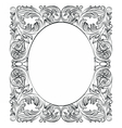 Vintage Imperial Baroque Round frame vector image vector image