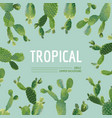 vintage tropical summer cactus graphic design vector image vector image