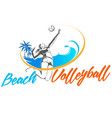 woman beach volleyball vector image vector image