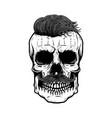 zombie skull isolated on white background design vector image