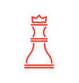 icon of rook of red colour vector image