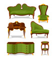 retro old decorative furniture for living room vector image