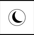 sleep mode solid icon mobile sign and new moon vector image