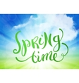 Spring time over sky background vector image