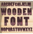 wooden letters vector image
