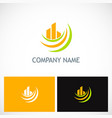 abstract building loop company logo vector image