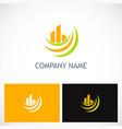 abstract building loop company logo vector image vector image
