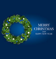 abstract holiday new year and merry christmas vector image