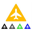 airplane problem flat icon vector image vector image