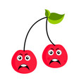 angry cherry emoticon vector image vector image