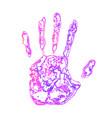 art hand paint vector image