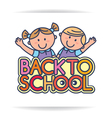Back to school logo vector image vector image