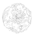 background with floral element vector image vector image