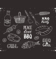 bbq sketches vector image