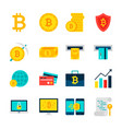 bitcoin currency objects vector image vector image