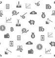 bitcoin seamless pattern vector image vector image