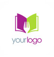 book recipe logo vector image vector image