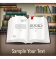 Books open with text on desk vector image vector image