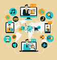 Business Communication Social network vector image vector image