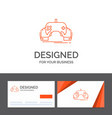 business logo template for game gaming mobile vector image