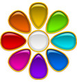 Button Colorful Flowe vector image