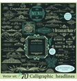Calligraphic vintage design elements vector image vector image