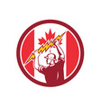 canadian electrician lighting bolt canada flag vector image vector image