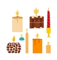 candles set vector image vector image
