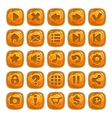Cartoon orange square buttons vector image vector image
