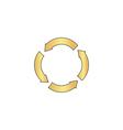 circle arrows computer symbol vector image vector image