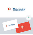 cloud setting logotype with business card vector image vector image