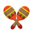 colorful pair mexican maraca instrument icon vector image vector image